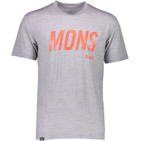 Mons Royale M's Icon Slant T-Shirt Grey Marl